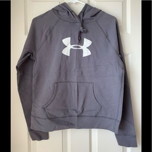 Like new! Under Armour logo hoodie